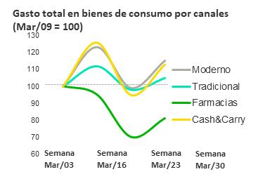Gasto total en bienes de consumo